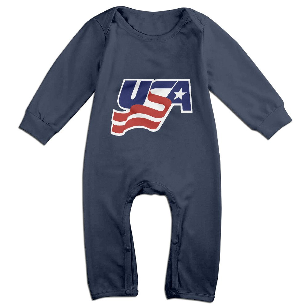 Ellem Cute USA Hockey Outfits for Toddler Navy