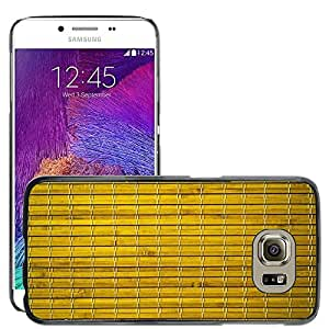 Print Motif Coque de protection Case Cover // M00156539 El fondo de bambú natural amarillo // Samsung Galaxy S6 (Not Fits S6 EDGE)