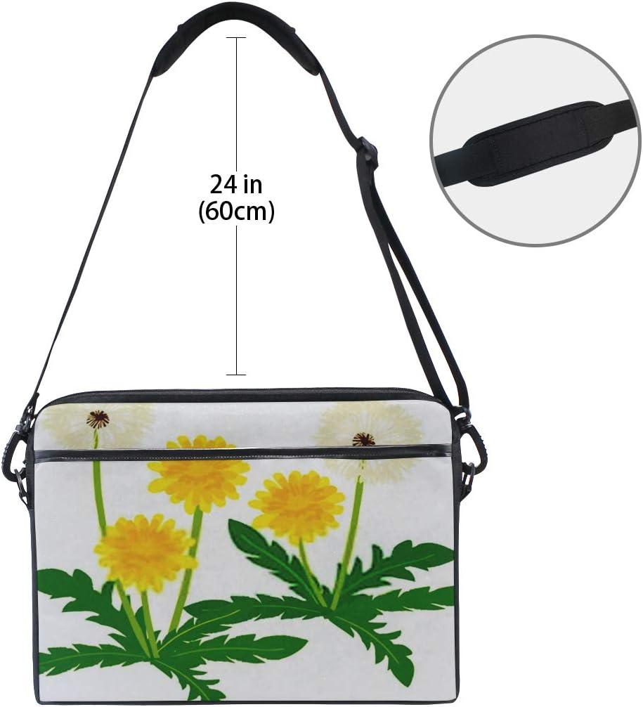 College Students Business People Briefcase Messenger Shoulder Bag for Men Women Laptop Bag Dandelion Vector Illustration 15-15.4 Inch Laptop Case