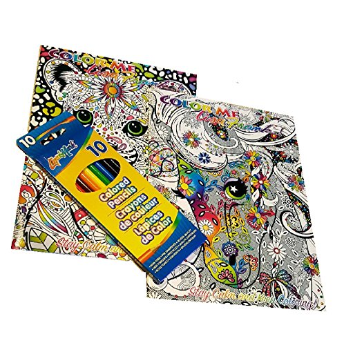 Adult Coloring Books And 10 Pack Pencil Set - Lisa Frank Color Me And Stay  Calm- Buy Online In India At Desertcart.in. ProductId : 40581495.