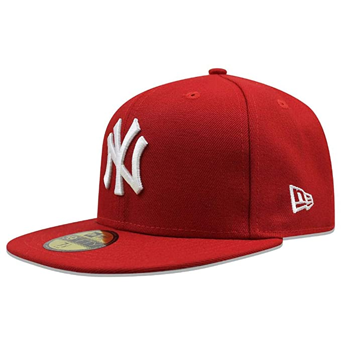 23a4dea6ba67a2 Amazon.com: New Era Mens MLB Basic NY Yankees 59fifty Fitted Cap ...