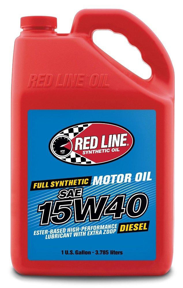 Red Line 21405 15W-40 Diesel Motor Oil - 1 Gallon Jug,(Pack of 4)