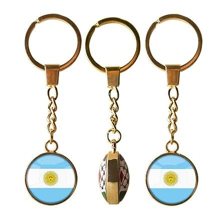 Bandera de Argentina llavero, llavero de cúpula de cristal ...