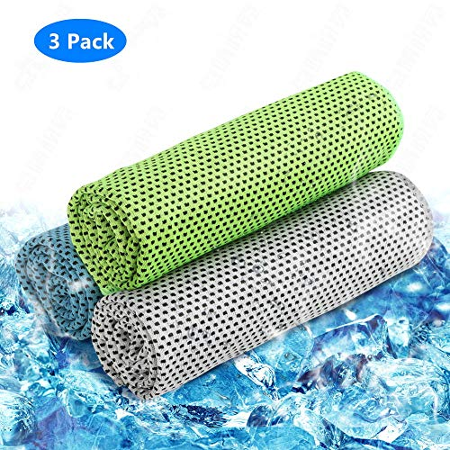 Cooling Towel 3 Pack Cooling Towels for Sports, Fitness, Yoga, Pilates, Gym, Golf, Hiking, Biking & More, 40 x 12
