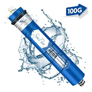 """SimPure RO Membrane, 100GPD Reverse Osmosis Membrane, 2.0""""x12"""" Water Filter Replacement for Under SinkHome Drinking RO Water Purifier System"""