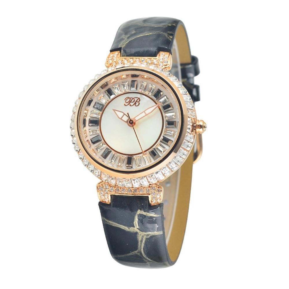 WP- Uhr Armbanduhr Mode-Damen-Diamant-Quarz-Uhr  - 5