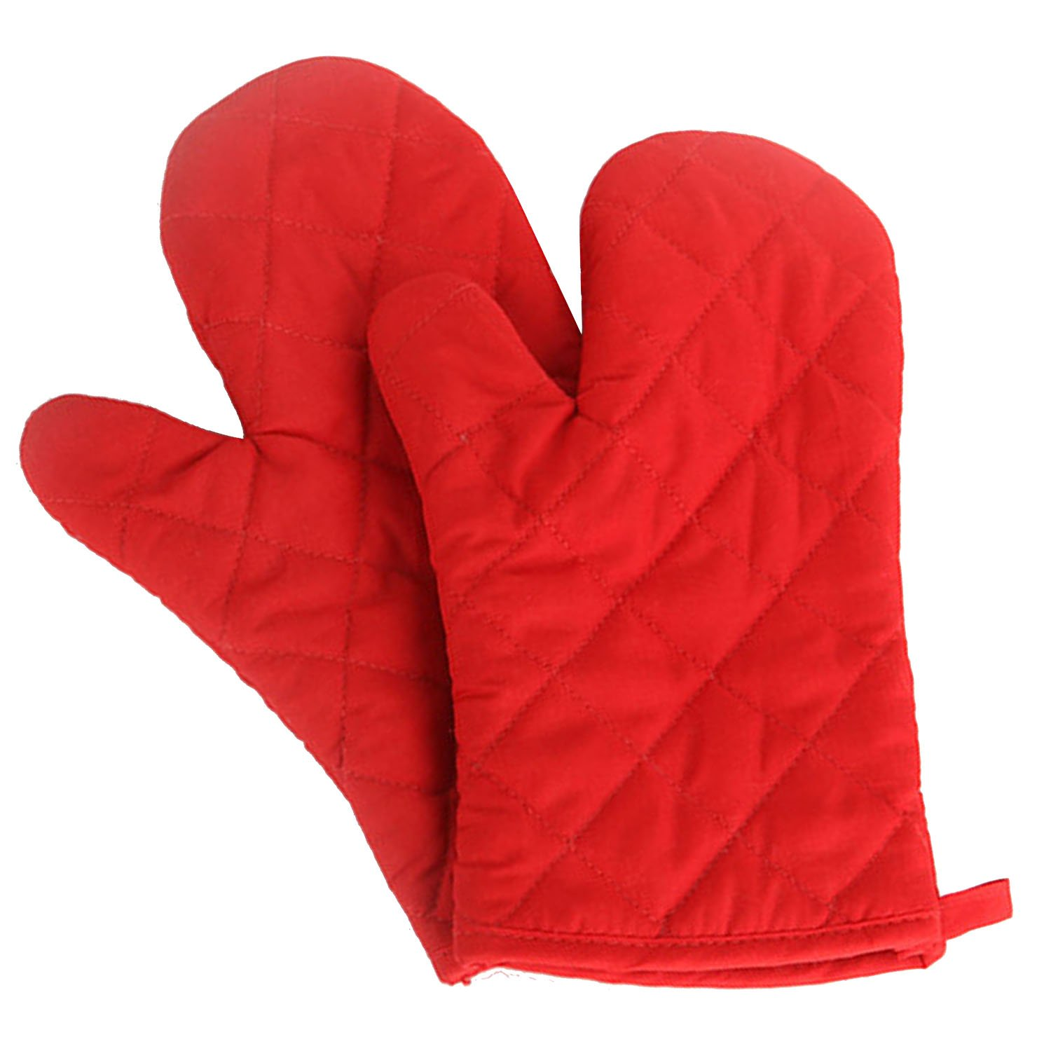 1 Pair Kitchen Gloves Baking Cooking Cotton Glove Microwave Oven Heat Resistant Gloves Mittens Red Gosear
