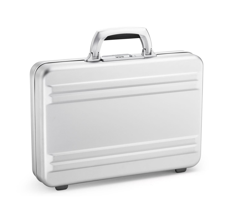 Zero Halliburton Super Slimline Aluminum Attache Case in Silver