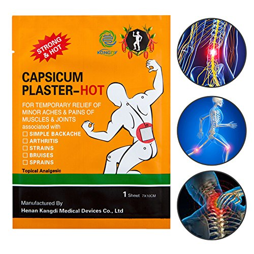 KONGDY Hot Capsicum Plaster Pain Relief Patch Large 30 Packs(7 * 10CM) (30pcs)