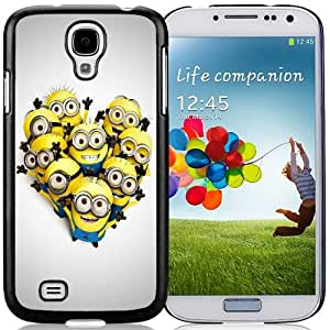 Unique and Fashionable Cell Phone Case Design with Minions in Heart Shape Galaxy S4 Wallpaper