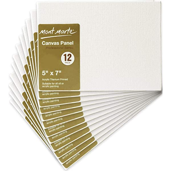 Canvas Panel Great for Students to Professional Artists Pack of 24 Mont Marte Canvas Panel 8 X 10 inches