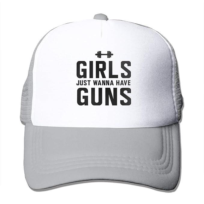 Girls Just Wanna Have Sun Mesh Baseball Caps Girl Adjustable Trucker Hat Black