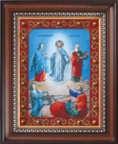 Beadwork Kit Charivna Mit  B 1063 The Icon Of The Holy Transfiguration Of Our Lord Jesus Christ 27 4X36 6 Cm   10 63X14 17 In