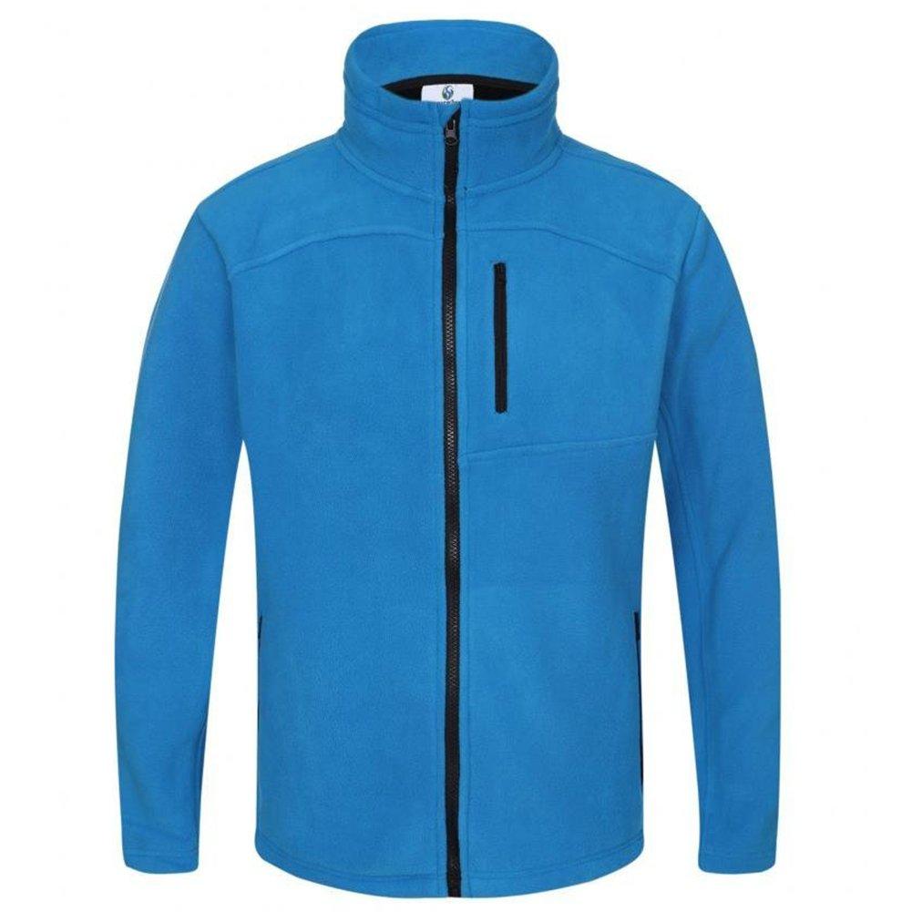 Somewhere Men's Full-Zip Fleece Composite Colors Autumn/Winter Essential Slim-Fitting Jacket(XXL)