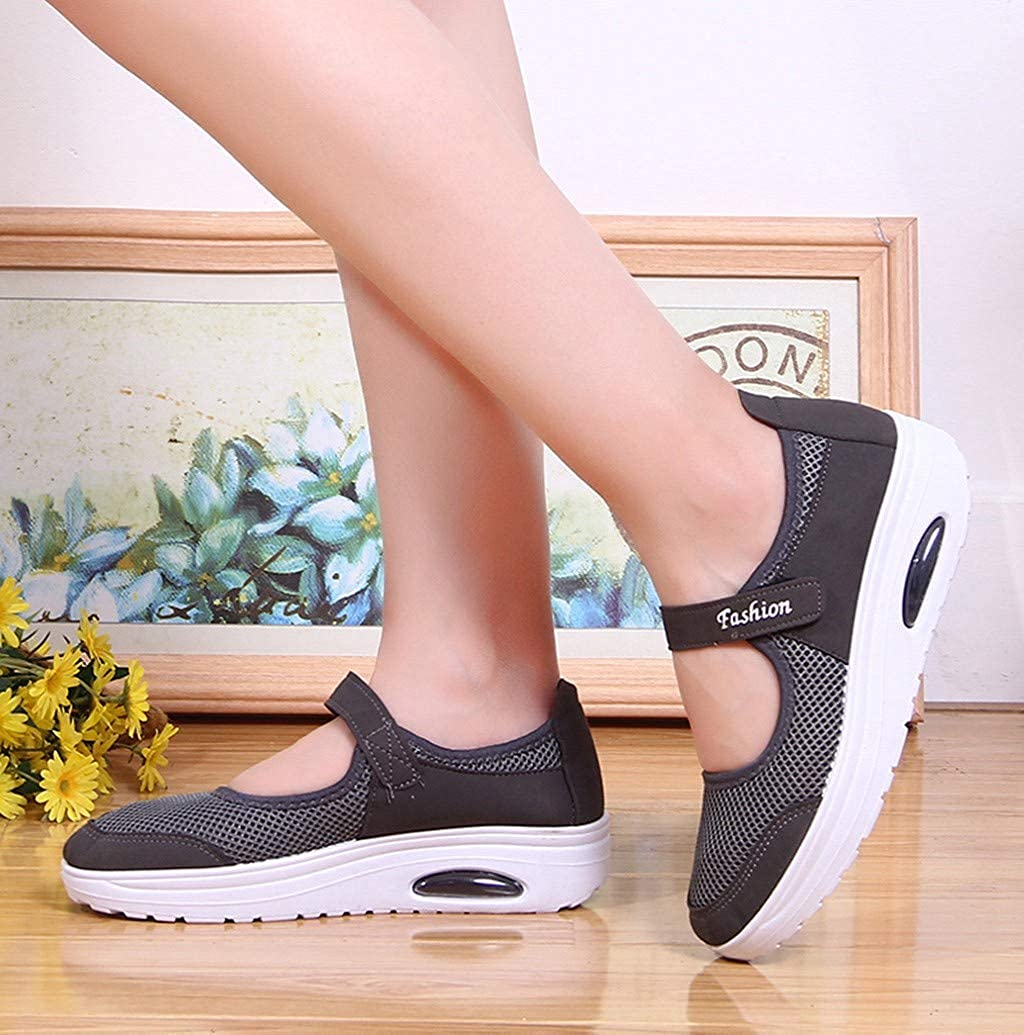 Women Casual Mesh Walking Shoes Nevera Platform Lightweight Sandals Wedges Loafers Fitness Sneakers Mary Jane Shoes