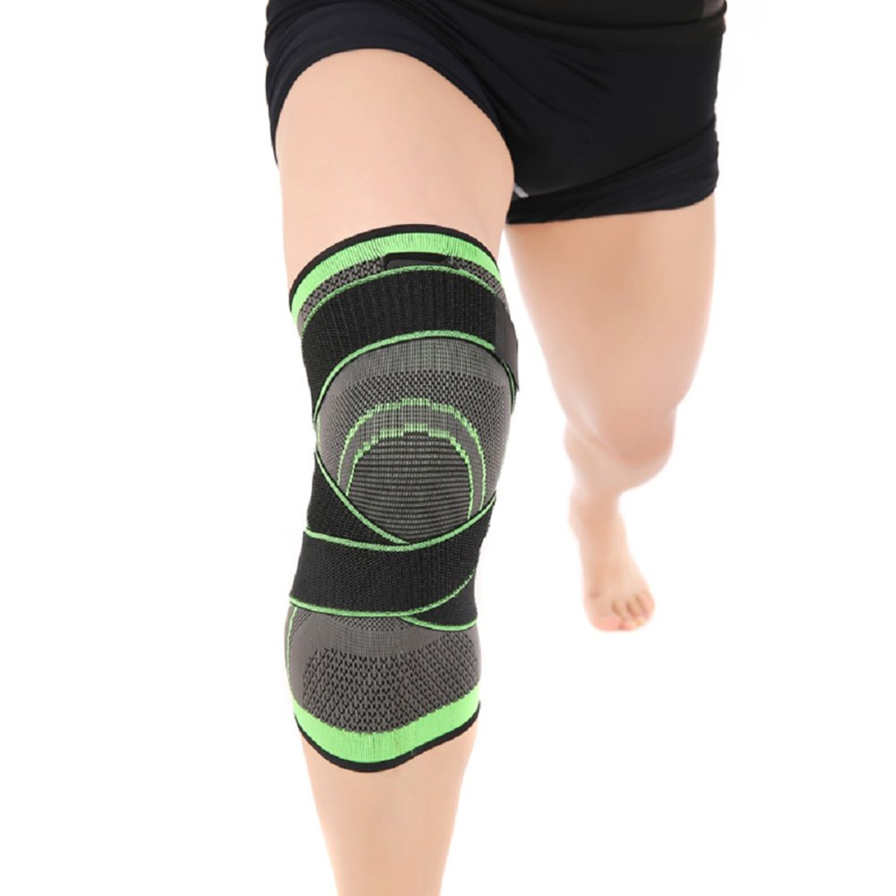 Knee Brace,Conlink Compression Support Knee Sleeve with Adjustable Strap Knee Pad for Pain Relief, Meniscus Tear, Arthritis, ACL, MCL,Suit for Running, Cycling, Tennis, Golf and Basketball by Conlink (Image #5)