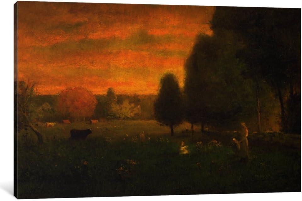 Amazon Com Icanvasart 1 Piece Sundown Brilliance Canvas Print By George Snr Inness 40 X 26 0 75 Deep Posters Prints