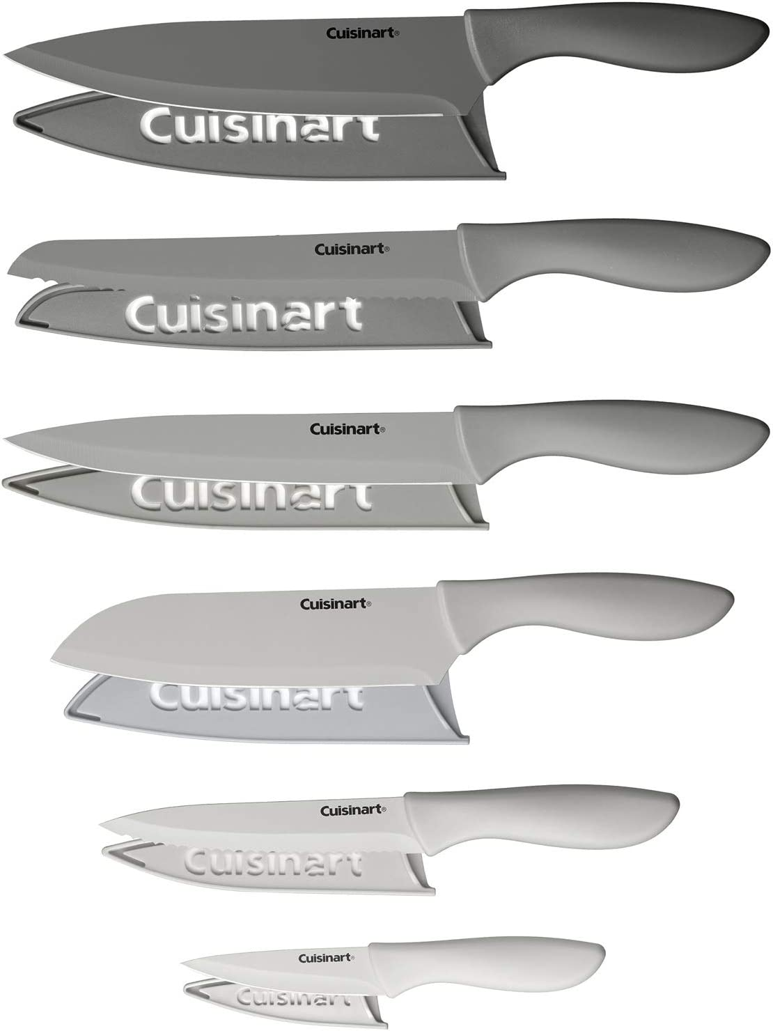 Cuisinart Advantage 12-Piece Gray Knife Set with Blade Guards C55-12PCG