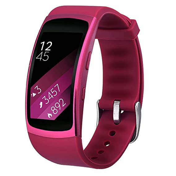 for Gear Fit 2 /Fit 2 Pro Bands,TOROTOP Small Soft Silicone Replacement Sport Strap Band Bracelet for Samsung Fit 2 /fit 2 PRO Fitness Watch (Purple, ...