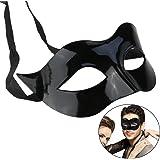 WINOMO Masquerade Mask Black Venetian Villain Costume Party Ball Halloween