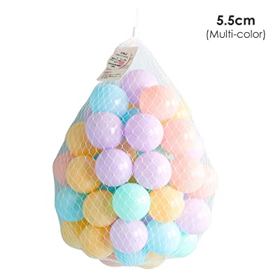 50pcs Colorful Ocean Ball Fun Ball Plastic Sea Balls Swim Pit Toy Tent Toddler Ball Play Balls for Indoor & Outdoor: Kitchen & Dining