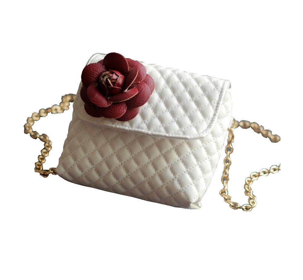 Always Pretty Princess Leather Crossbody Handbag Purse Bag Purse,Chain Bag for Girls White Free