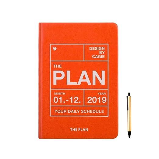 HFY-B Diario Organizador papelería Cuaderno Organizador 2019 ...