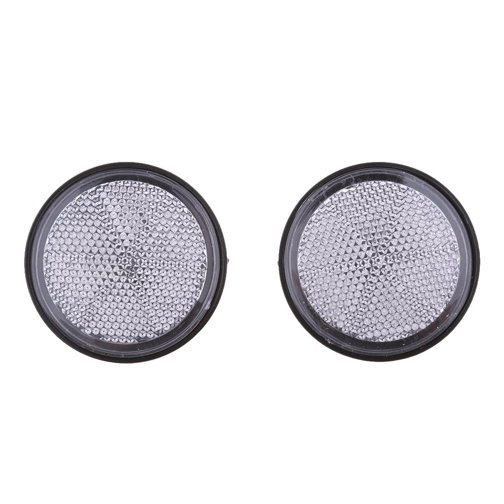 Baoblaze Plastic Round Reflective Warning Reflector Fits for Car Motorcycle Motor Bikes Bicycles ATV Dirt Bike - Silver