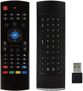 MX3 - Mando a distancia con teclado AMGUR 2.4 G Mini teclado inalámbrico con ratón de aire,