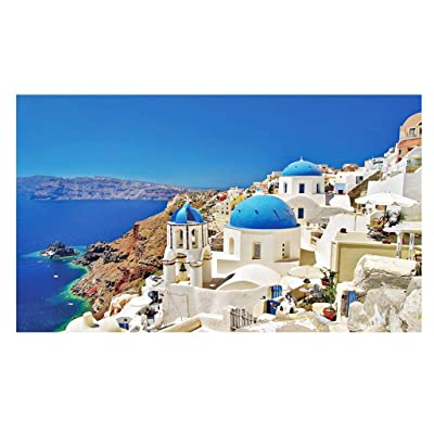 Romantic Mediterranean Aegean Landscape Puzzles, 1000 Pieces High Difficulty Scenery Jigsaw Puzzles for Adults and 8+ Years Kids, Decompression Toy, DIY Handmade Puzzle for Decorations, Gift: Toys & Games [5Bkhe0504208]