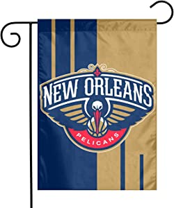 Xihe Fashion Basketball Team Double Sided Banner Linen Material House Yard Decoration Flags Home Garden Flags 12 x 18 Inch (New Orleans Pelican )