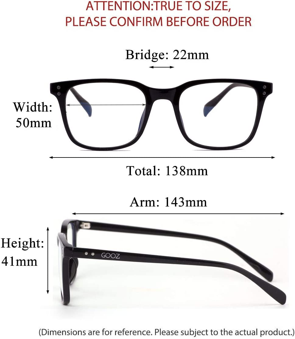 Gooz Blaulicht Filter Glasses Computer Glasses Blocking Uv Headaches And Eye Strain Gaming Glasses For Pc Mobile And Tv Anti Fatigue Anti Blue Light Uv Protection Unisex Black Square Drogerie Körperpflege