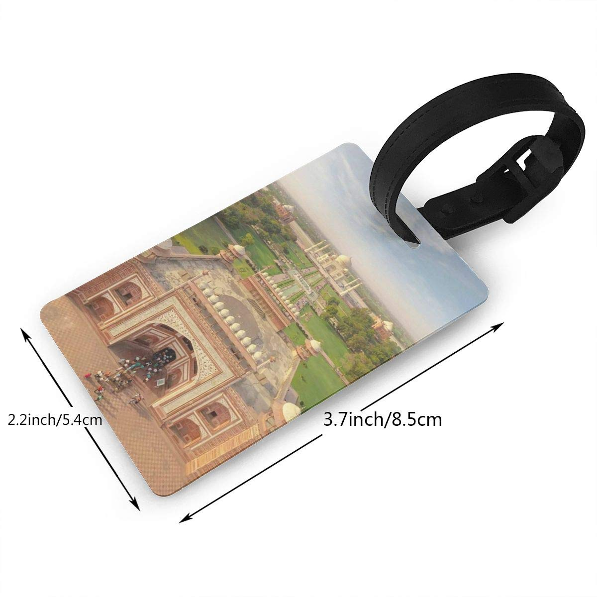 2 Pack Luggage Tags Taj Mahal Travel Tags For Travel Bag Suitcase Accessories