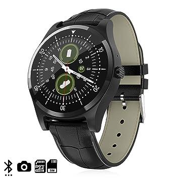 DAM. DMZ143BK. Smartwatch L18 con Cámara, Opción De Sim, Y Tarjeta Micro SD. Podómetro, Anti-Pérdida. Negro: Amazon.es: Electrónica