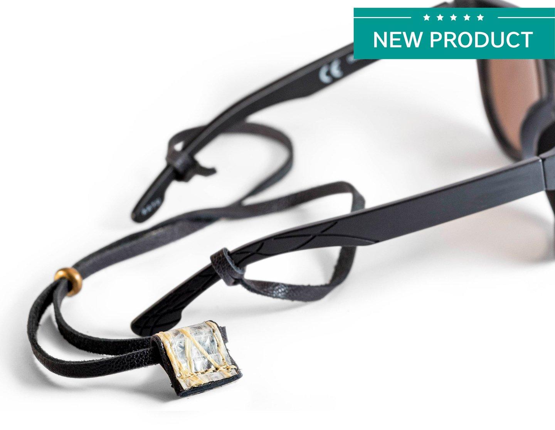 Eyeglass Chains (Leather: Black semi-gloss/Sail: Kevlar)