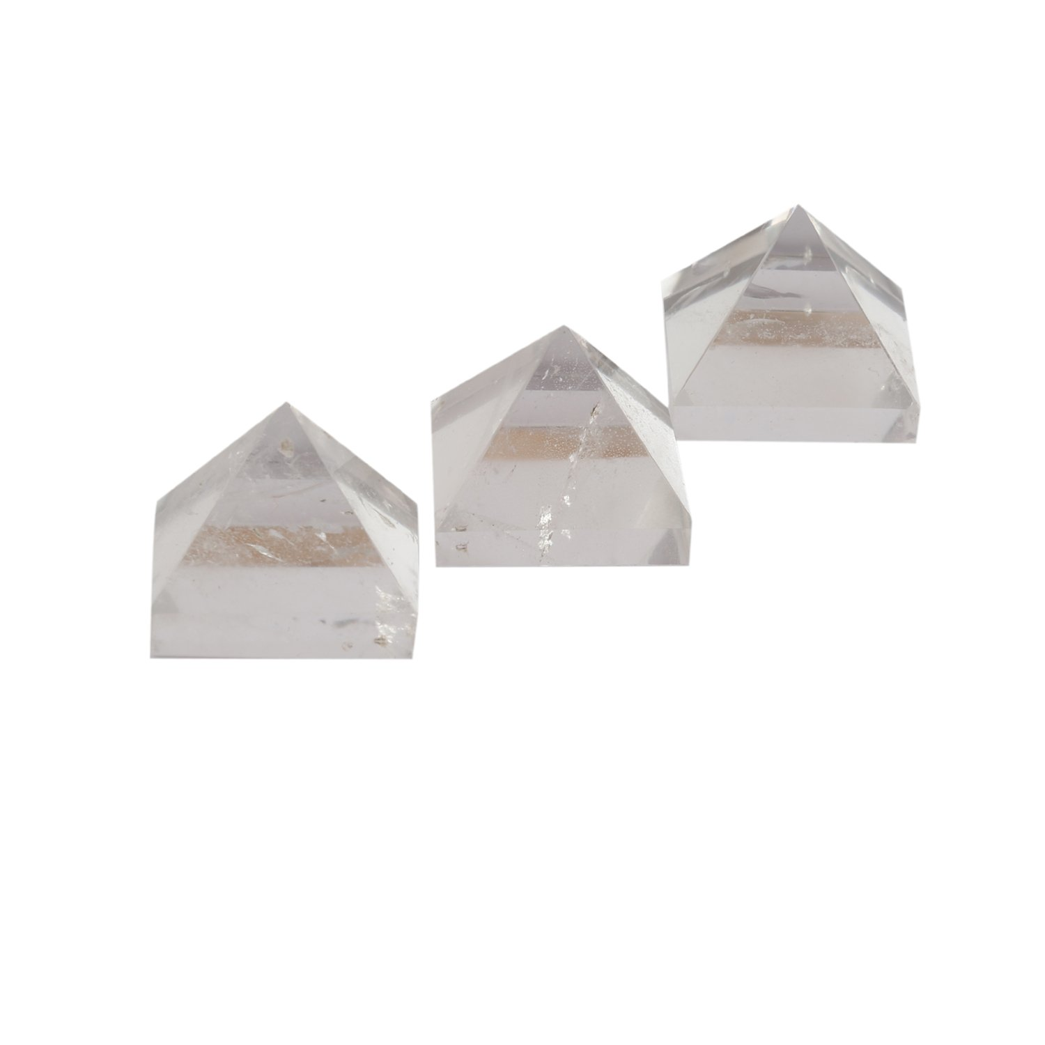 Aatm Collection Crystal 1 Inch Pyramid Energy Generator For Protection Meditation Healing (Set Of 3)