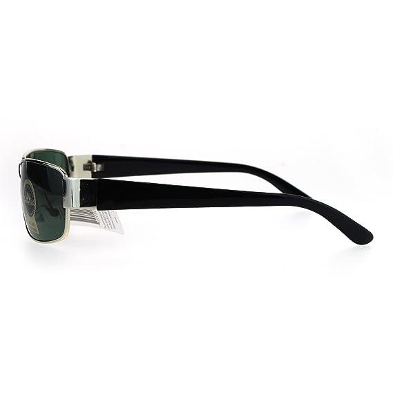 bde84d7be14 Amazon.com  Tempered Glass Lens Rectangular Luxury Mens Designer Sunglasses  Copper Brown  Clothing