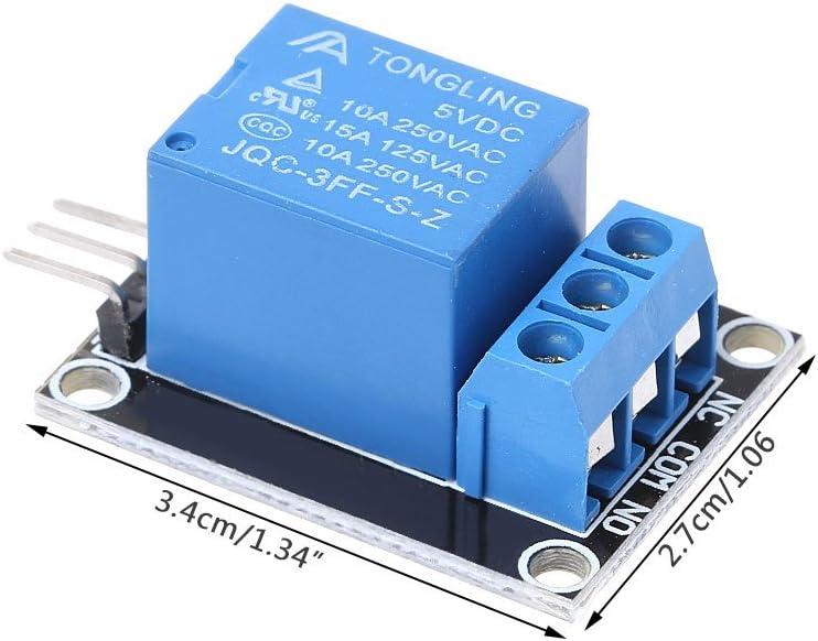 BIlinli KY-019 Eine 1 Kanal 5V Relaismodul-Abschirmung f/ür PIC AVR DSP ARM Relaiskarte Heimger/äte-Steuerungsmikrocontroller-Entwicklungsplatinenmodul