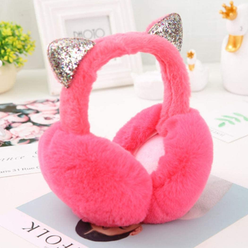 Womens Winter Warm Cat Ear Muffs Cute Catear Earmuff For Girls Fluffy Women Womens Headband Faux Fur Outdoor Earmuffs