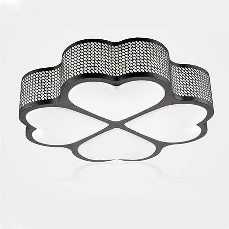 WYBAN 72W Blanco frío LED moderna Lámpara de ahorro de energía Lámparas de techo de diseño de trébol de 4 hojas Perfecta para sala de estar dormitorio ...