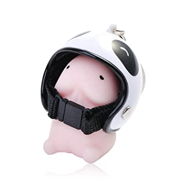 QIYIGE Cute mochi kawaii Squeeze Mini Soft Squishy Elastic Penis stretchy Toy Keychain Pendant with Motorcycle