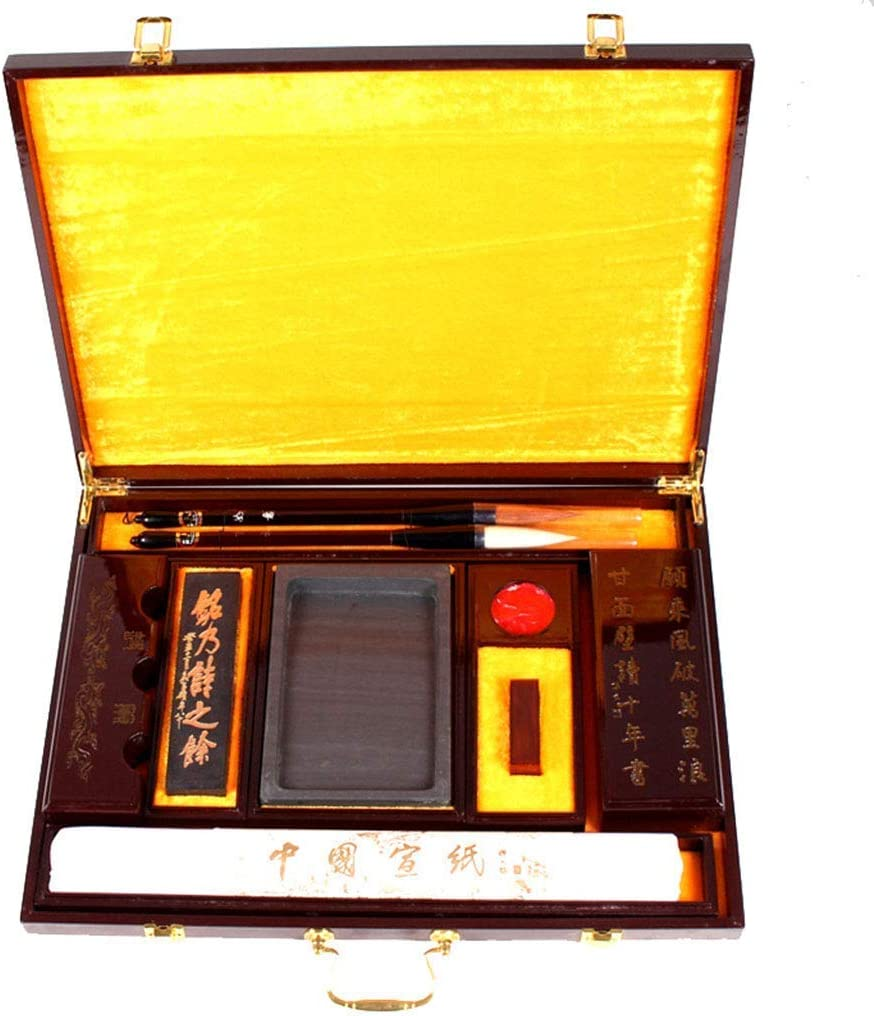 Cepillo de Escritura China, Pintura China Lobo Cabra Escritura de Pelo for Ampliar la Escritura Regular de la caligrafía, Caja de Regalo Pinceles caligrafia China RVTYR: Amazon.es: Electrónica
