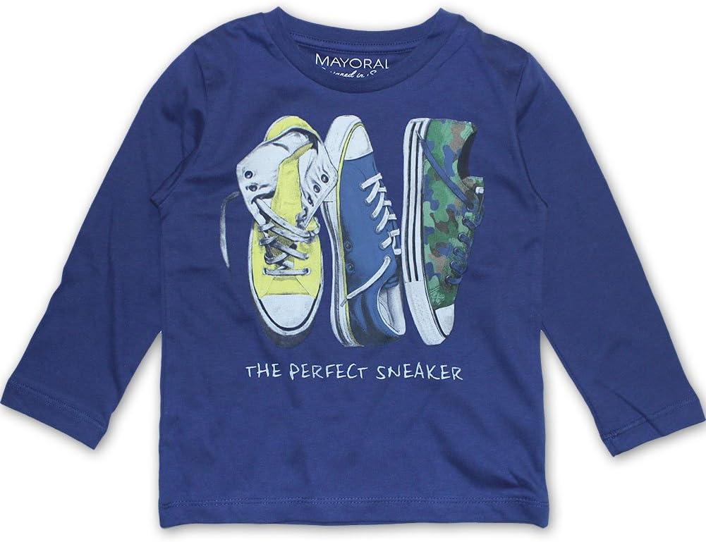 Mayoral - Camiseta de manga larga - para niño, niño, marine, 116 ...