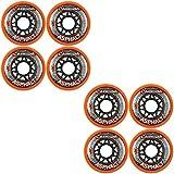 Labeda Asphalt Orange Inline Skate Wheels - 72mm