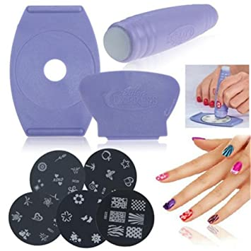 Amazon Urbun Salon Express Nail Art Stamping Kit With 5pcs