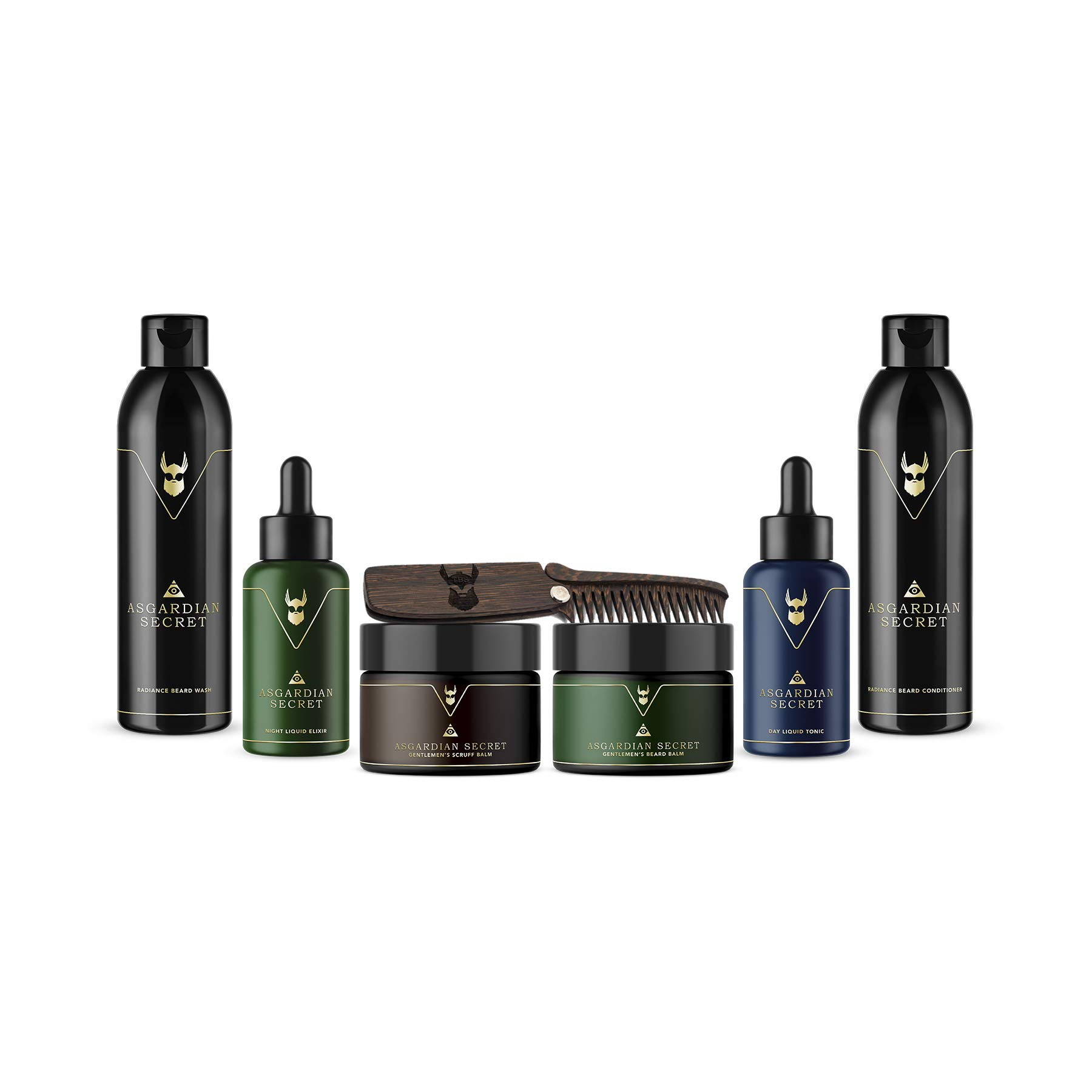 The Beard Struggle Ultimate Kit Asgardian Secret - for Men & Beard Care W/Beard Wash/Shampoo/Conditioner/Night oil/Day oil,100% Natural & Organic