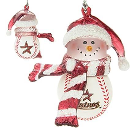 scottish christmas houston astros home run snowman ornament set