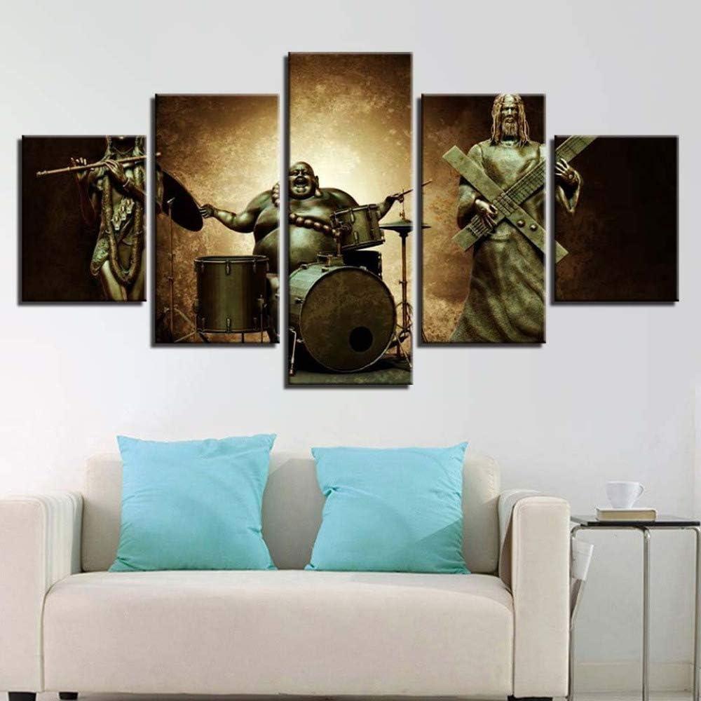 adgkitb canvas Cartel Abstracto Cinco Piezas Religiosa Estatua de ...
