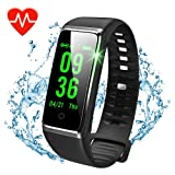 DAWO Fitness Tracker, Color Screen Activity Tracker with Heart Rate Monitor Watch, IP67 Waterproof Fitness Watch with Female Physiological Reminder Sleep Blood Pressure Monitor for Kids Women Men
