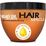 Argan Oil Hair Mask - Deep Conditioner Sulfate Free for Dry or Damaged Hair with Jojoba Kernel Oil Aloe Vera Collagen and Ker
